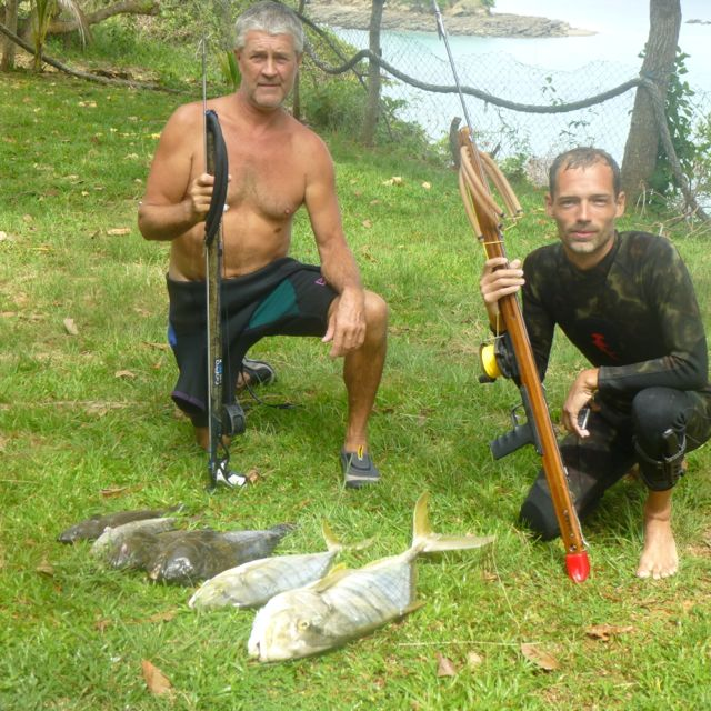Terry Little and Adventure Spear Fishing Guide Adam Ledford