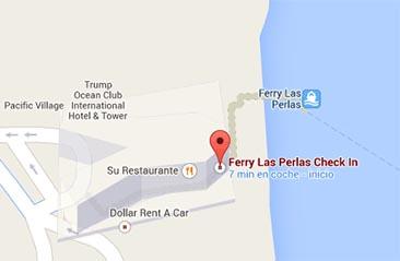 Ferry Las Perlas location at Trump Hotel